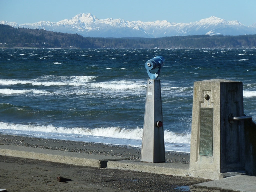 Alki Beach Park, Puget Sound